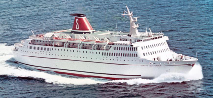 Stena Olympica sailing