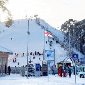 Piedzīvojumu parks ziemā