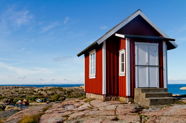 Zviedrijas sarkanās mājas, Falu pigments, Dalarna, Faluna, tipiskās mājiņas
