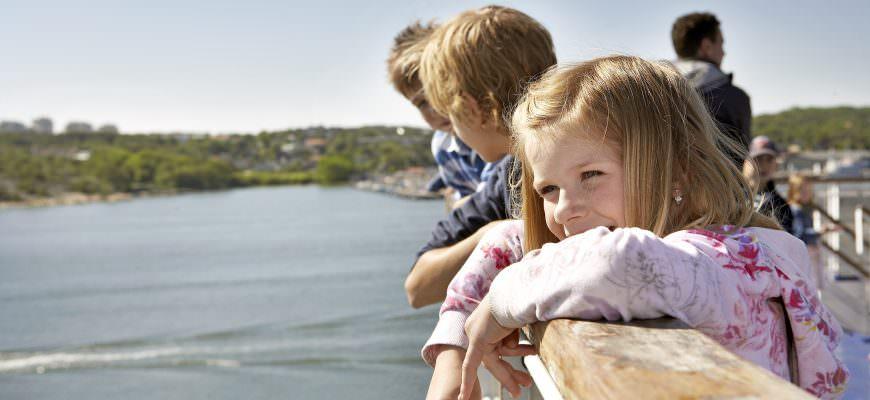 Prāmis, bērni, ceļošana, Zviedrija, Stokholma,