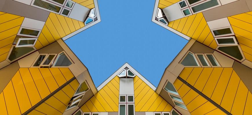 Roterdama, Nīderlande, Holande, Cubic Houses, Kubu mājas, Kubiku mājas