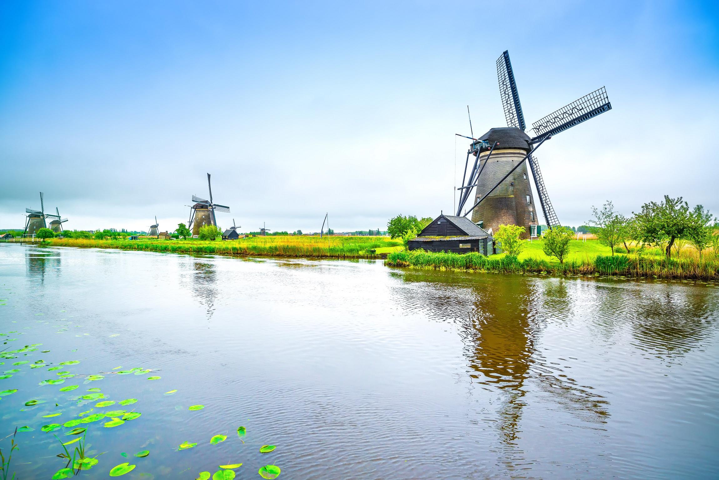 Vējdzirnavas, Holande, Roterdama, eksursija, ceļo ar prāmi, ceļo ar auto