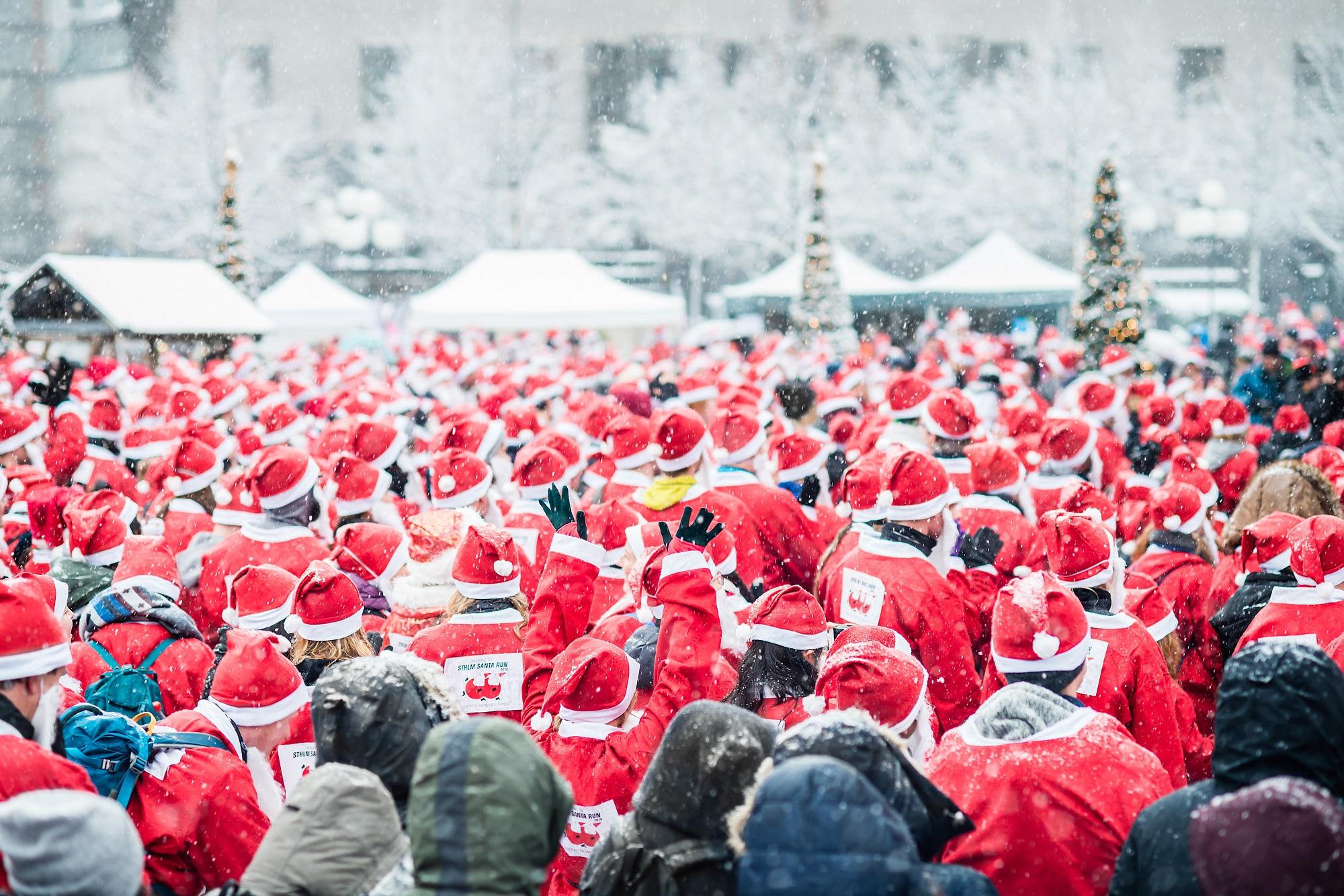Zviedrija, Stoholma, Ziemassvētki, svētki, Vecpilsēta, Santa Klausu skrējiens, Ziemassvētku tirdziņi Zviedrijā